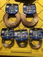 Monster 50 Ft. 18-2 x 2 & 24-2 x 3  Stranded Speaker Wire Lot Audio