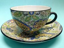 Tillson Ware Blue Paisley Chintz China Tea Cup and Saucer Till and Son England