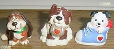 Lot of 3 Hallmark 1985 - 1994 Valentine Dog Merry Miniatures Mint