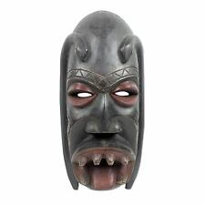 Authentic African Tribal Mask Wood Hand Carved 'Danyi' NOVICA Ghana