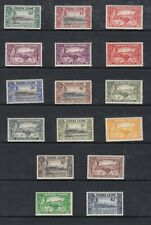 SIERRE LEONE 173-85 GEORGE VI PICTORIAL DEFINITIVES VERY FINE ULTRA LIGHT HINGE