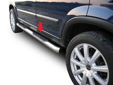 Coppia pedane laterali in acciaio lucido Honda CRV 2001-2006