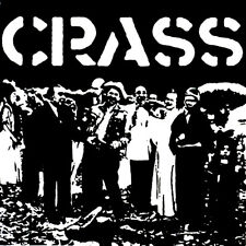 Crass rare 4x4 inch vinyl screen printed sticker / decal, Anarchy, Punk