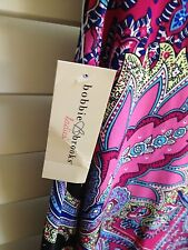 Ladies Bobbie Brooks Full Maxi Casual Skirt Paisley Design S M.l XL Regular M