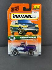 MATCHBOX 1998 #55 Ford Flareside Pickup Purple Body White Flash Tampo Truck NEW