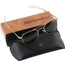 AO American Optical Aviator Gold Frames 52 mm Sunglasses Cosmentan Glass