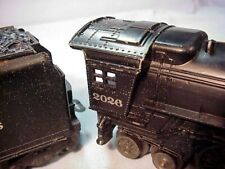LIONEL TRAIN #2026 POSTWAR STEAM ENGINE - ORIGINAL LOCO & TENDER 1951-1953 VG!!