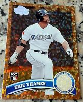 ERIC THAMES 2011 Topps Update Cognac Diamond SP Rookie Card RC Logo HOT Brewers