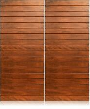 "Oasis Design - 72""x80"" Exterior Unfinished Modern Mahogany Double Pre-Hung Doors"