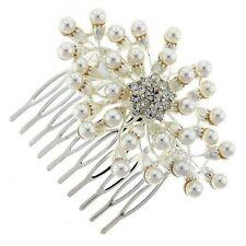 Desire Accessories Silver & Ivory Pearl Bridal  Hair Comb(DA00039)