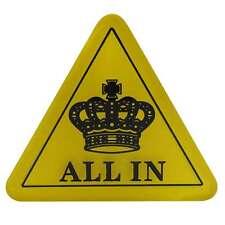 All-In Dreieck groß all in triangle acryl Poker Button für Dealer am Pokertisch