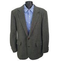 Pendleton Virgin Wool 2 Button Sport Coat Blazer Mens 42L Gray Single Vent USA