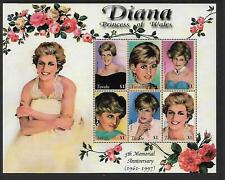 1998 Princess Diana Set of 6 Sheetlet Complete MUH/MNH as issued
