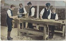 ROYAL NAVY JOINERS CLASS Woodworking Very Young Cadets Colour PC c1910