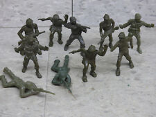 Used LIDO 54mm Scale (10) WWII US Army  Infantry Soldiers Lot 1310K