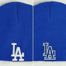 Los Angeles Dodgers Knit Beanie ~Hat ~CLASSIC PATCH/LOGO ~2 Cool Colors ~NEW