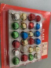 vtg Mini Glass Tree Ornaments made in Taiwan