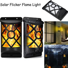 Solar Flicker Flame Light Set Solar Lights Outdoor Lamp Fixture Waterproof Vinta
