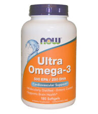 Omega-3 Fish Oil Now Foods,500 EPA/250 DHA, 180 Softgels Supports Brain Health