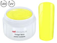 UV LED Farbgel NEON PASTEL TRIXIBELLE French Color Gel Modell Design Nagel Gelb