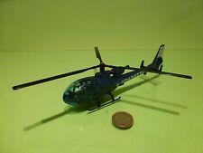 SOLIDO HELICOPTER GAZELLE  N1066 - POLICE GENDARMERIE - BLUE L17.0cm - GOOD