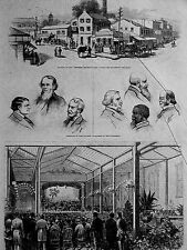 Mississippi Valley Labor Convention NEGRO PARTICIPANTS 1879 Antique Print Matted