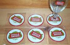 STELLA ARTOIS 6 BEER BAR SPILL MAT RUBBER COASTERS NEW