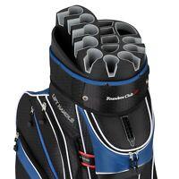 Founders Premium Cart Bag 14 Way Organizer Divider Top Blue