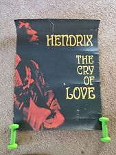 Original RARE Jimi Hendrix Promo Poster Cry Of Love 1971 Design by Victor Kahn