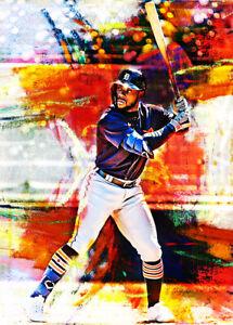 2021 Akil Baddoo Detroit Tigers Baseball 1/25 Art ACEO Print Card By:Q