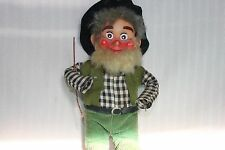 Vintage Hillbilly? Plastic Face No Hands Wire Arms And Legs Stuffed Torso Japan