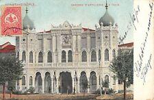 CPA TURQUIE CONSTANTINOPLE CASERNE D'ARTILLERIE A TAXIM  (timbre turc