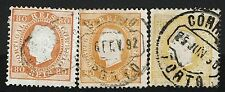 Portugal SC# 44, Used, Varieties, one with Hinge Remnant - Lot 111516
