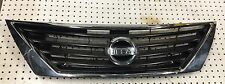 2012-2014 NISSAN VERSA SEDAN FRONT UPPER GRILLE BLACK & CHROME OEM USED