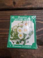 Vintage 10 cent Dennison Gummed Nature Seals Daisies 30ct  New in Package Rare