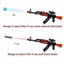 AK47 Nerf Gun Strike Darts Blaster Toy Kids Rifle Soft Crystal Water Bullet