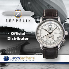 ZEPPELIN 100 YEARS 7640-1 QUARTZ WATCH SWISS RONDA MOVEMENT 50M WR SILVER DIAL