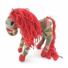 Vintage Horse Saddle Colorful Fabric Patch Quilt Stuffed Toy Doll Rare Unique