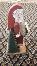 Handcrafted Folk Art Christmas Wooden Santa Claus Xmas Movable arms X-mas