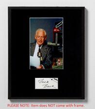 Jack Buck Matted Autograph & Photo! Baseball! St. Louis Cardinals Announcer!