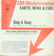 """7"""" Earth Wind & Fire/Sing A Song (CBS Blitzinformation) D"""