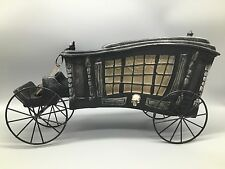 """Halloween Hearse Horse Drawn Carriage Victorian Haunted Gothic Decor Skull 17"""""""