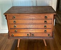 Antique Vintage Flat File Drawer Cabinet Table Blueprint Architect  - WE SHIP!