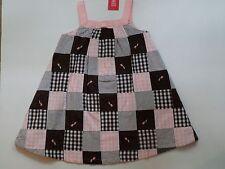 NWT Gymboree Tulip Garden Patchwork Pink Brown Plaid Checkered Dress 4 4T
