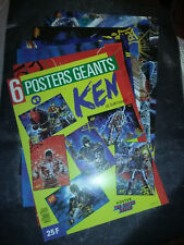 Lot de 6 posters géant N°2  HOKUTO NO KEN LE SURVIVANT 1984 TOEI ANIMATION TBE