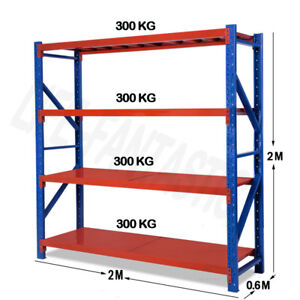 2M x 2M X 0.6M 1200kg Garage Shelving Long Span Steel Warehouse Longspan Storage