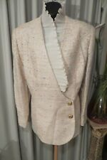 VINTAGE  ~ ANTHEA CRAWFORD ~ Coloured Fleck Jacquard JACKET * Size 16 *