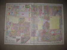 Huge Antique 1924 Toledo Maumee Sylvania Township Lucas County Ohio Handcolr Map