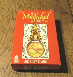 THE MAGICKAL TAROT CARDS PACK DECK 1986 ANTHONY CLARK CROWLEY THOTH BASED PACK