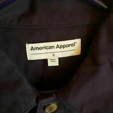 American Apparel Women's Long Sleeve Twill Coverall, Navy, Small